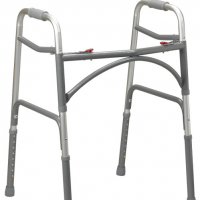 Bariatric Aluminum Folding Walker- Two Button thumbnail